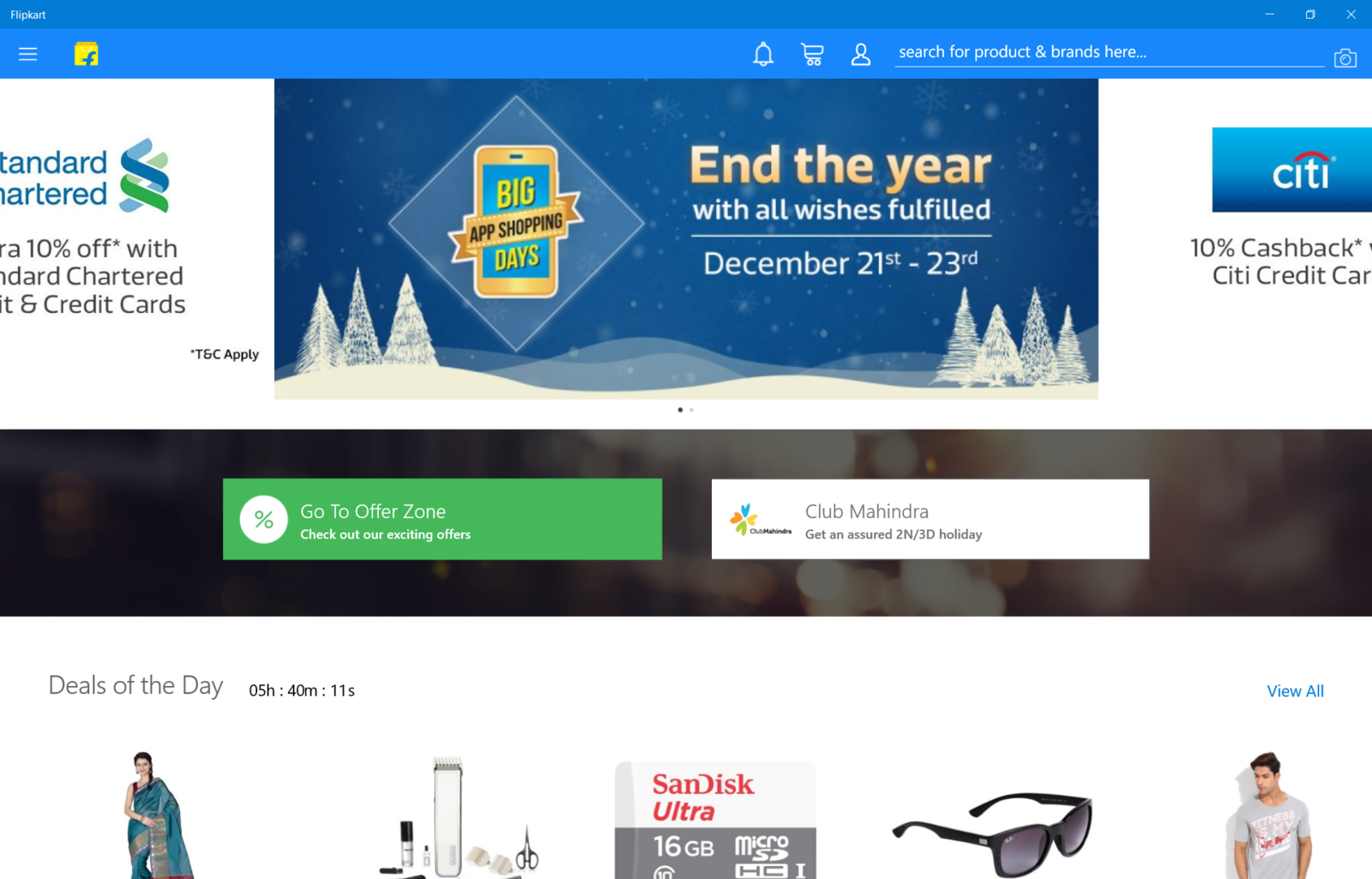 Flipkart Universal Windows App