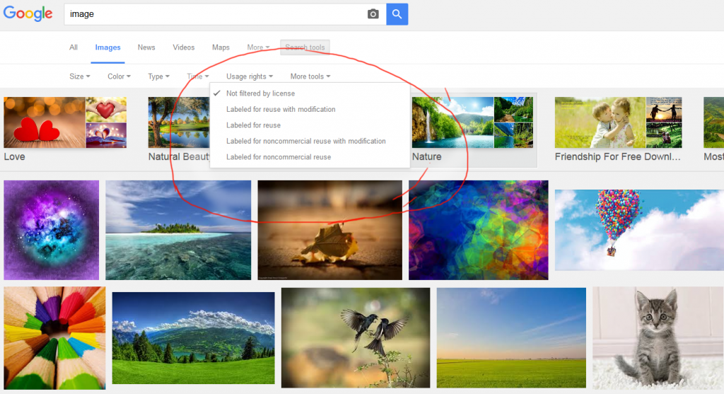selecting blog image Google Image Search